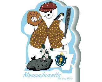 Massachusetts State Snowman handcrafted and made in the USA.