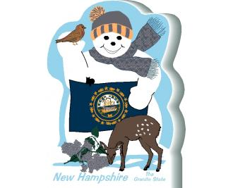 New Hampshire State Snowman handcrafted and made in the USA.