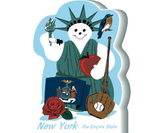 New York State Snowman handcrafted and made in the USA.