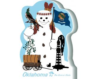 Oklahoma State Snowman handcrafted and made in the USA.