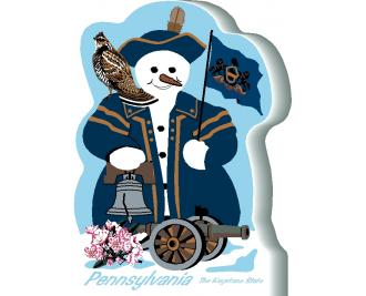 Pennsylvania State Snowman handcrafted and made in the USA.