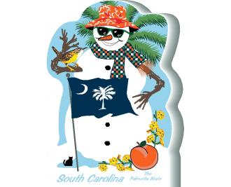 South Carolina State Snowman handcrafted and made in the USA.