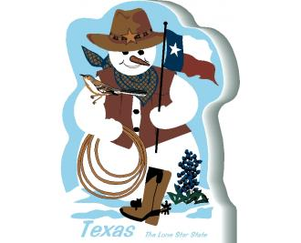Texas State Snowman handcrafted and made in the USA.