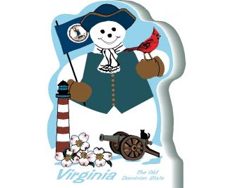Virginia State Snowman handcrafted and made in the USA.