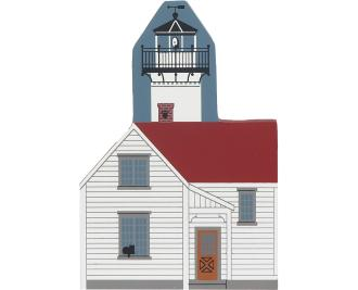 Decorate your home with a little wooden Village that reminds you of West Chop Lighthouse. Handcrafted in wood by The Cat's Meow Village.