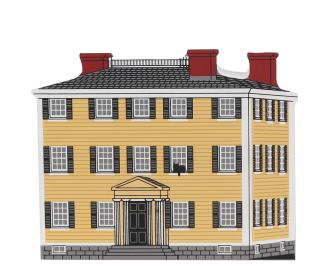 "Vintage Hawke's House from Historic Salem Series handcrafted from 3/4"" thick wood by The Cat's Meow Village in the USA"