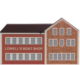 Remember your trip to Massachusetts with a handcrafted wooden keepsake of Lowell's Boat Shop