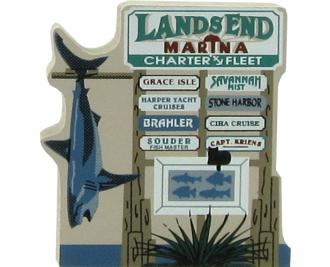 Lands End Marina Sign, Key West, FL, Florida, marina, nautical, seashore, beach, charter fishing,