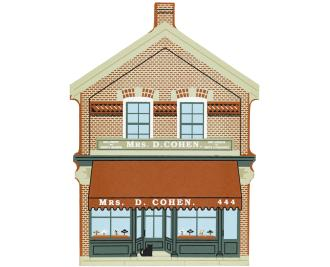Cat's Meow wooden handcrafted keepsake of Cohen Millinery Shop located in Greenfield Village, Dearborn, Michigan.