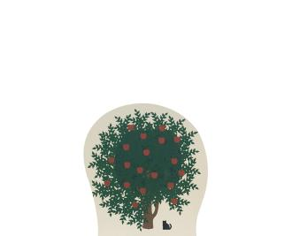 "Vintage Apple Tree from Accessories handcrafted from 3/4"" thick wood by The Cat's Meow Village in the USA"