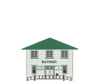 "Vintage Bath House from Chippewa Lake Amusement Park handcrafted from 3/4"" thick wood by The Cat's Meow Village in the USA"