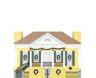 "Vintage Beauregard-Keyes House from New Orleans Christmas Series handcrafted from 3/4"" thick wood by The Cat's Meow Village in the USA"