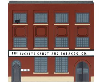 "Vintage Buckeye Candy & Tobacco Co. from Tradesman Series handcrafted from 3/4"" thick wood by The Cat's Meow Village in the USA"