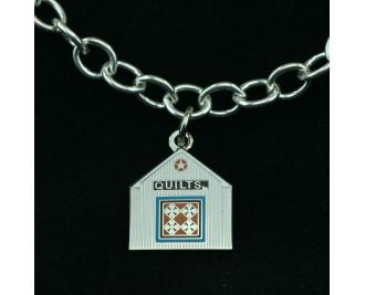 Wear a Village on your wrist! Quilt Barn Charm by The Cat's Meow Village