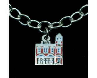 Wear a Village on your wrist! Firehouse Charm by The Cat's Meow Village