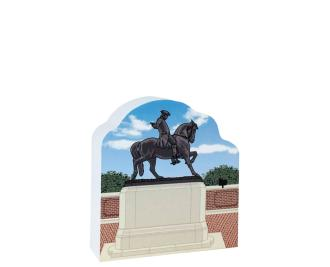 Remember your trip to Boston, MA with your very own replica of this Paul Revere Statue. We handcraft it in all its colorful details in Wooster, Ohio. By The Cat's Meow Village.