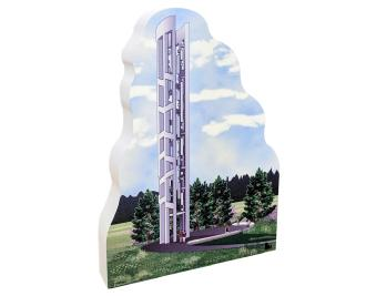 "This ¾"" thick wooden replica is handcrafted in the U.S.A. to honor these 9/11 heroes at the Tower of Voices, Flight 93 National Memorial, Shanksville, Pennsylvania"