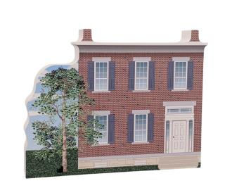 "Lovely detailed replica of Mary Ann M'Clntock House NPS, Waterloo, New York. Handcrafted in the USA 3/4"" thick wood by Cat's Meow Village."