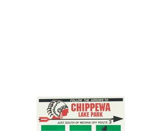 "Vintage Chippewa Lake Billboard from Chippewa Lake Amusement Park handcrafted from 3/4"" thick wood by The Cat's Meow Village in the USA"