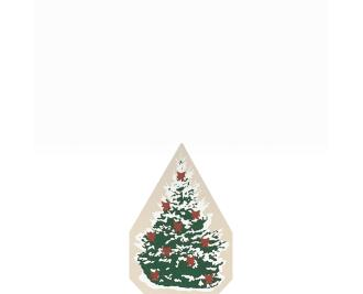 "Vintage Christmas Spruce from Accessories handcrafted from 3/4"" thick wood by The Cat's Meow Village in the USA"