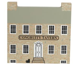 "Vintage Congruity Tavern from Series V handcrafted from 3/4"" thick wood by The Cat's Meow Village in the USA"