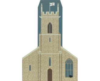 "Vintage Country Church from English Traveler Series handcrafted from 3/4"" thick wood by The Cat's Meow Village in the USA"