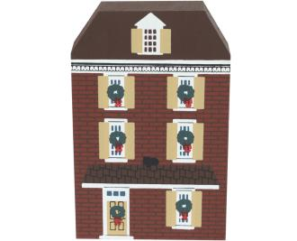 "Vintage Elfreth's Alley from Philadelphia Christmas Series handcrafted from 3/4"" thick wood by The Cat's Meow Village in the USA"