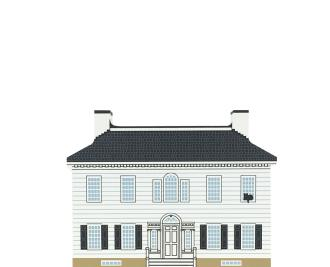 "Vintage Ford Mansion from Series XVII, Revolutionary War Series handcrafted from 3/4"" thick wood by The Cat's Meow Village in the USA"