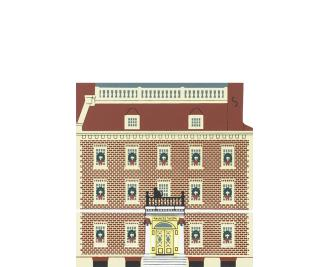 "Vintage Fraunces Tavern from New York Christmas Series handcrafted from 3/4"" thick wood by The Cat's Meow Village in the USA"