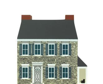 "Vintage Governor Snyder Mansion from Series IX handcrafted from 3/4"" thick wood by The Cat's Meow Village in the USA"