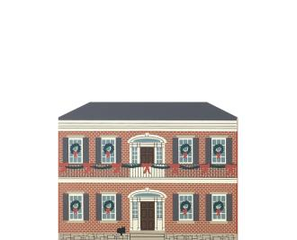 "Vintage Hermann-Grima House from New Orleans Christmas Series handcrafted from 3/4"" thick wood by The Cat's Meow Village in the USA"