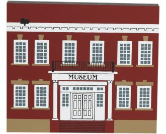 "Vintage Historical Museum from Main Street Series handcrafted from 3/4"" thick wood by The Cat's Meow Village in the USA"