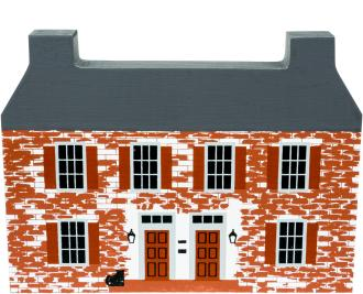 "Vintage John Belville House from Series IV handcrafted from 3/4"" thick wood by The Cat's Meow Village in the USA"