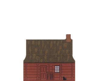 "Vintage John Neilson House from Series XVII, Revolutionary War Series handcrafted from 3/4"" thick wood by The Cat's Meow Village in the USA"