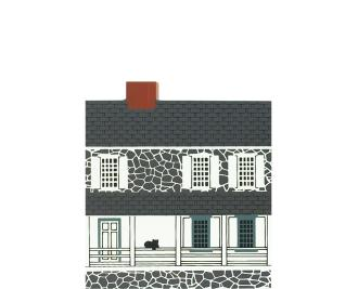 "Vintage Jonathan Hager House from Hagerstown Series handcrafted from 3/4"" thick wood by The Cat's Meow Village in the USA"