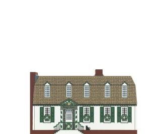 "Vintage King's Arms Tavern from Traditional Williamsburg Christmas Series handcrafted from 3/4"" thick wood by The Cat's Meow Village in the USA"