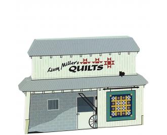 Lizzy Miller's Quilt Barn, handcrafted from wood by The Cat's Meow Village
