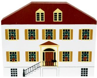 "Vintage Liberty Inn from Savannah Christmas Series handcrafted from 3/4"" thick wood by The Cat's Meow Village in the USA"