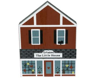 "Vintage The Little House Giftables from Series IV handcrafted from 3/4"" thick wood by The Cat's Meow Village in the USA"