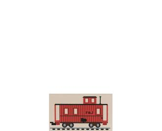 "Vintage Little Red Caboose from Accessories handcrafted from 1/2"" thick wood by The Cat's Meow Village in the USA"