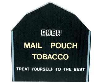 "Vintage Mail Pouch Tobacco Barn from Fall Series handcrafted from 3/4"" thick wood by The Cat's Meow Village in the USA"