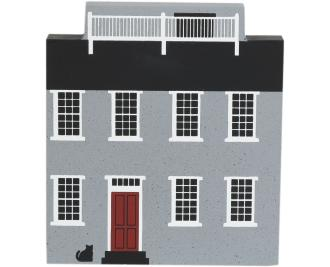 "Vintage Maria Mitchell House from Nantucket Series handcrafted from 3/4"" thick wood by The Cat's Meow Village in the USA"