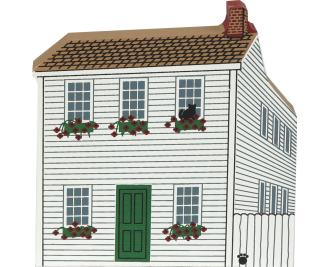 "Vintage Mark Twain Boyhood Home from Mark Twain's Hannibal Series handcrafted from 3/4"" thick wood by The Cat's Meow Village in the USA"