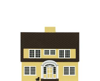 "Vintage Martha Washington House from Series V handcrafted from 3/4"" thick wood by The Cat's Meow Village in the USA"