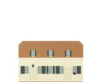 "Vintage Meetinghouse from Shaker Village Series handcrafted from 3/4"" thick wood by The Cat's Meow Village in the USA"