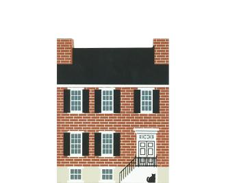 "Vintage Miller House from Hagerstown Series handcrafted from 3/4"" thick wood by The Cat's Meow Village in the USA"