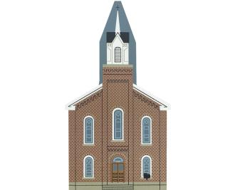"""Vintage Mother's Day Church from Collectors Club Editions handcrafted from 3/4"""" thick wood by The Cat's Meow Village in the USA"""