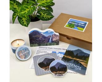 Yosemite National Park Traveler Experience box by The Cat's Meow Village. Crafted and curated in the USA.