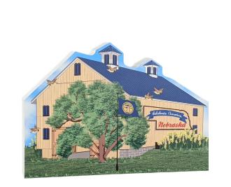 "State Barn, Nebraska. Handcrafted in the USA 3/4"" thick wood by Cat's Meow Village"