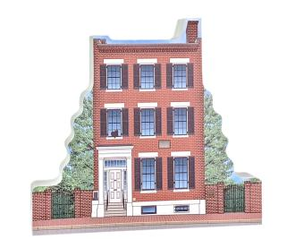 """Beautifully detailed replica of Field House Museum, St. Louis, MO.  Handcrafted in the USA 3/4"""" thick wood by Cat's Meow Village."""